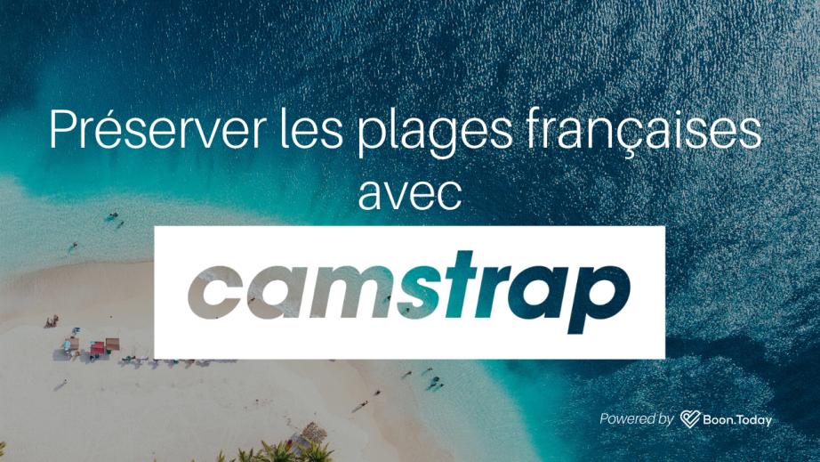 Protégez les plages de France grâce CamStrap la sangle pour appareil photo innovante.