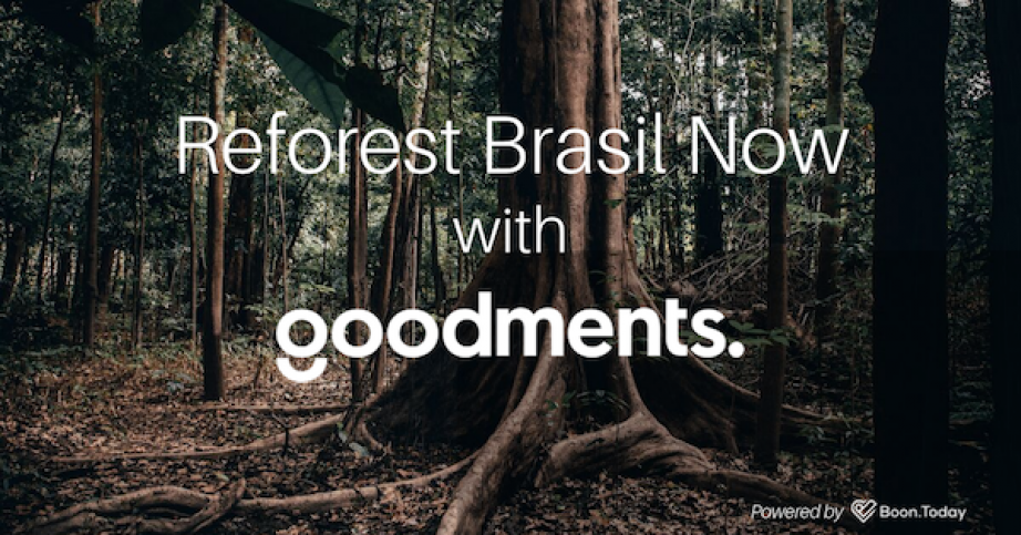 Reforest Brasil Now thanks to Goodments app