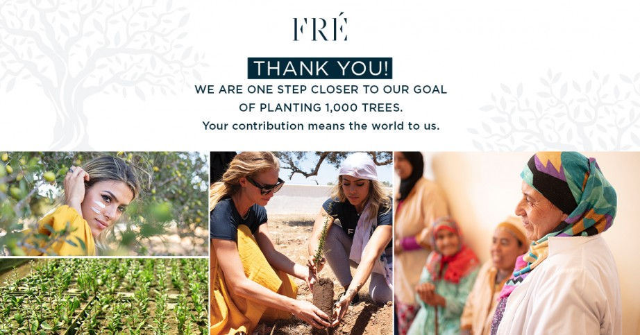 Actively plant 1000 Argan trees in Morocco with FRÉ Skincare 🌱