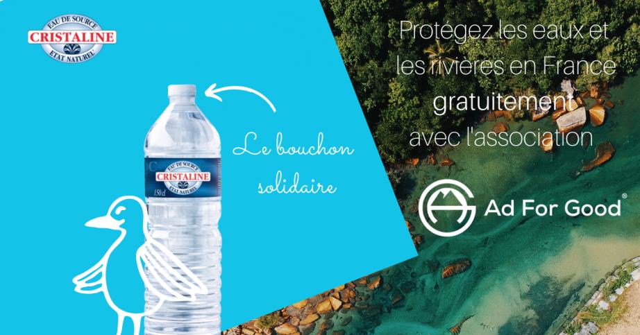 Protégez les eaux et les rivières de France avec Cristaline 💧