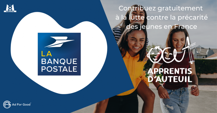 Soutenez gratuitement les jeunes en situation de précarité avec La Banque Postale